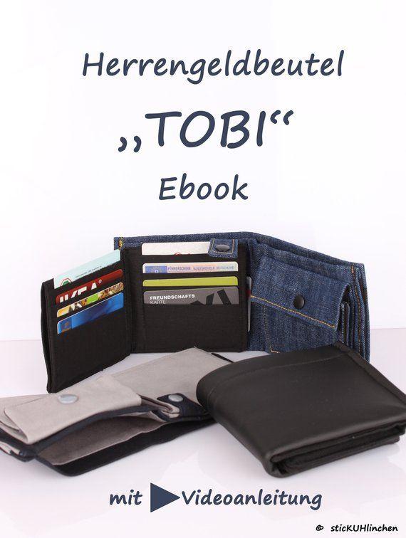 Ebook Herrengeldbeutel Tobi mit Videoanleitung