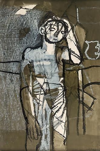 Keith Vaughan:  Semi-Abstract Figurative Painting: Project 5: Theoretical Study