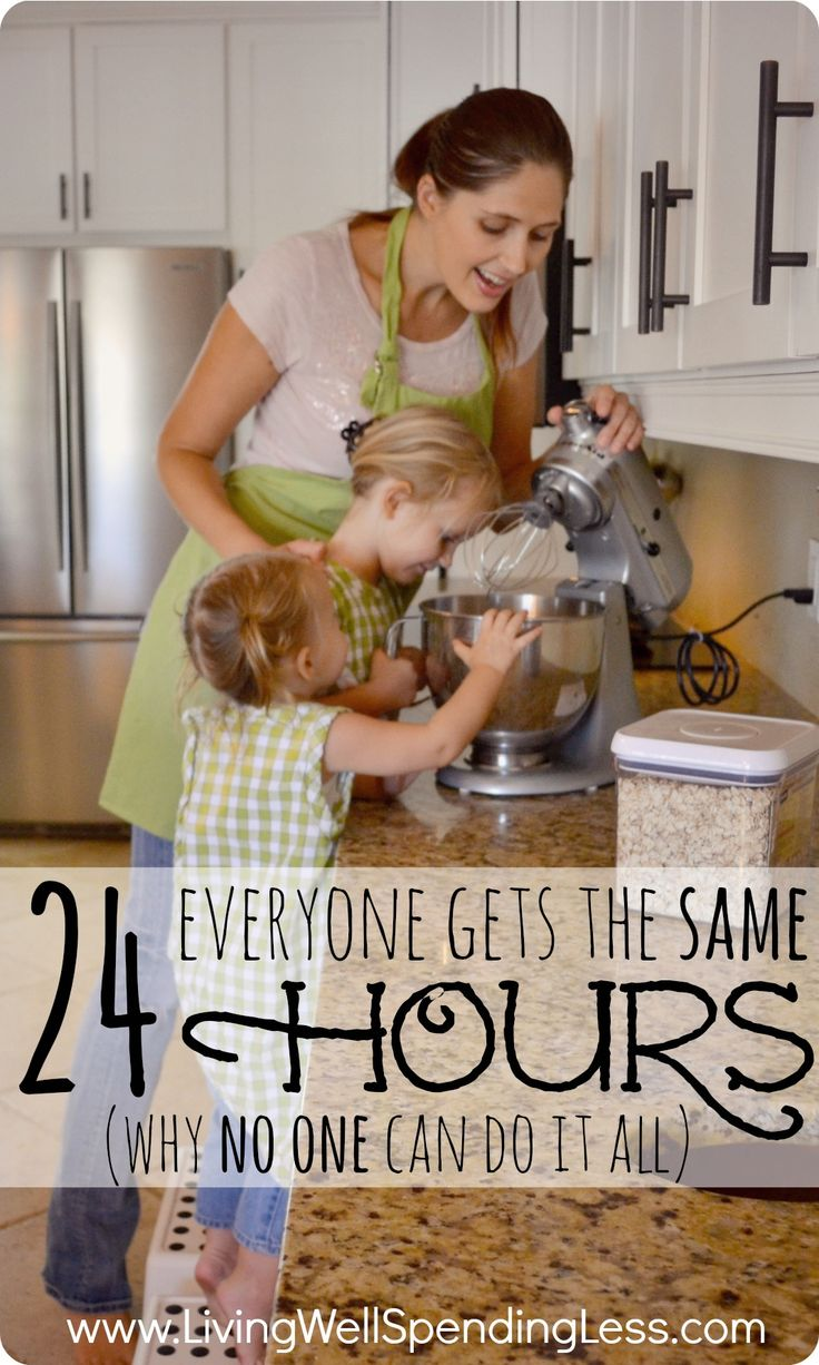 Everyone gets the same 24 hours (why no one can do it all). Great post explaining why all those perfect moms we see around us might not be as pulled together as we assume.  Must read encouragement for any mom feeling like they dont measure up.