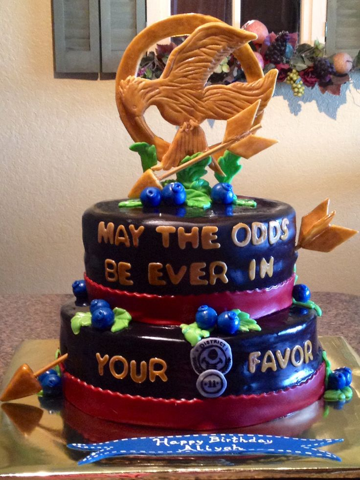 Get ur hunger game on birthday cake girls cake