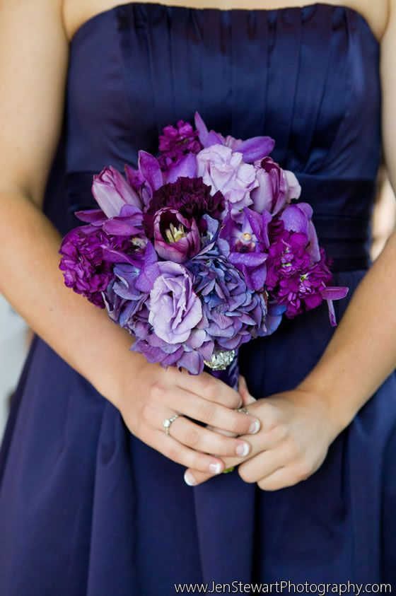 Purple And Blue Wedding