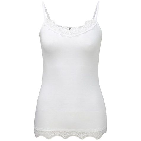 Buy Pure Collection Lace Jersey Camisole, White Online at johnlewis.com