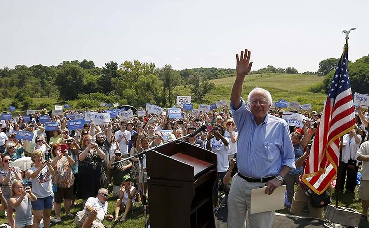 He's a ranting, socialist, anti-Wall Street senator drawing bigger crowds than Donald Trump. Why America is suddenly paying attention to Bernie Sanders.