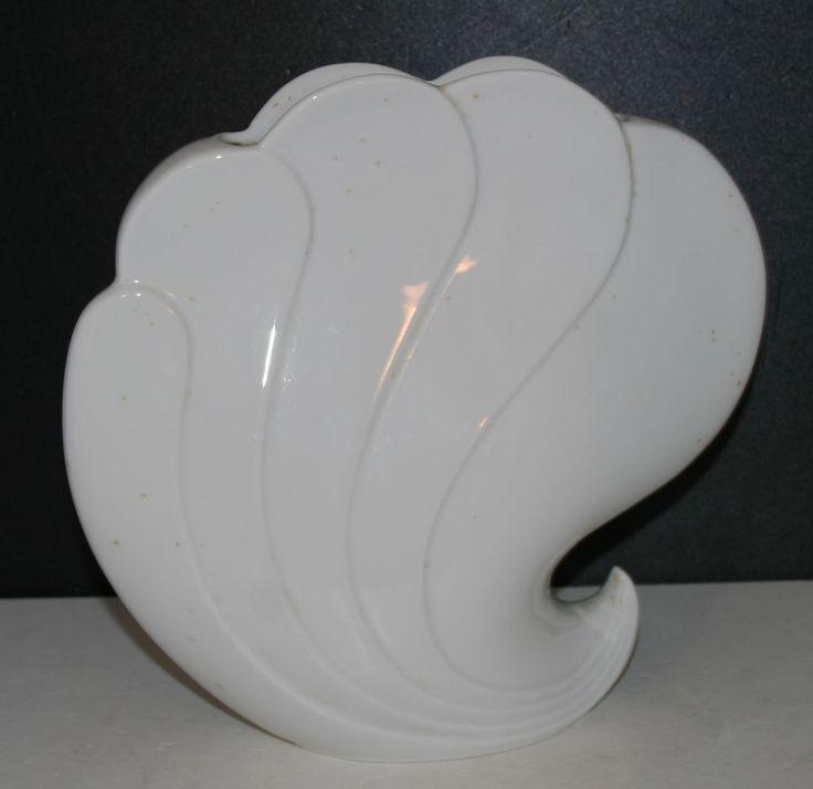 Vase Seltmann Weiden Helena weiss Muscheloptik Porzellan Porzellanvase glasiert