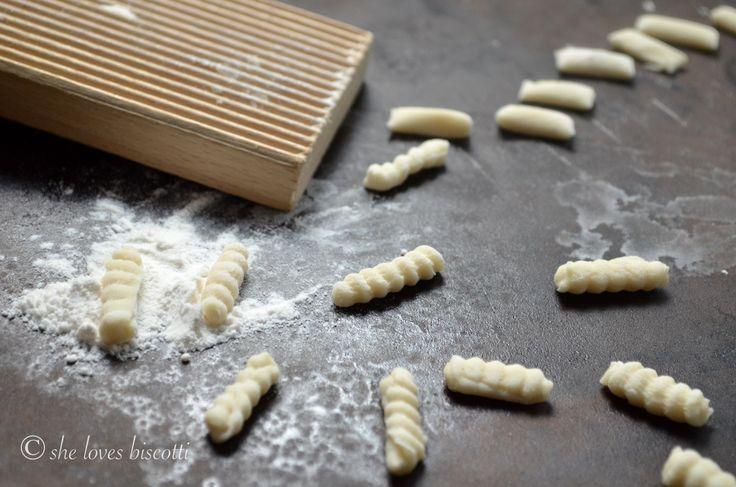 Homemade cavatelli pasta recipe