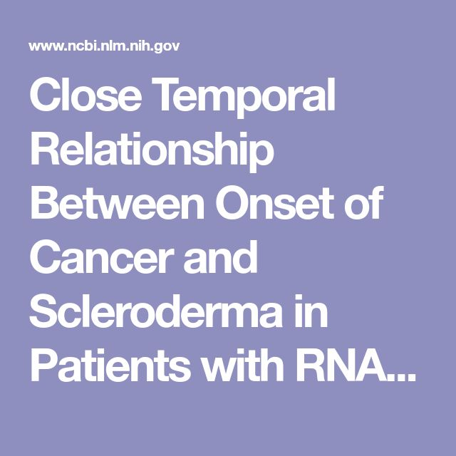 Close Temporal Relationship Between Onset of Cancer and Scleroderma in Patients with RNA Polymerase I/III Antibodies