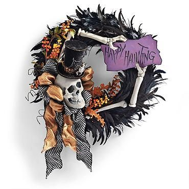 """""""Happy Hauntings"""" Wreath - Need to make this! Or something similar"""