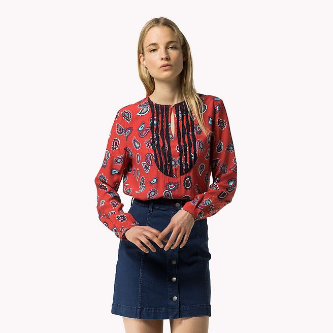 Bluse Mit Paisleymuster | Rot | Tommy Hilfiger® | 8719112379066