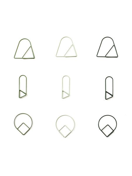 Paper Clips Green (set of 9)