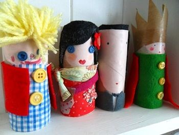 Cardboard Tube Family! - Things to Make and Do, Crafts and Activities for Kids - The Crafty Crow