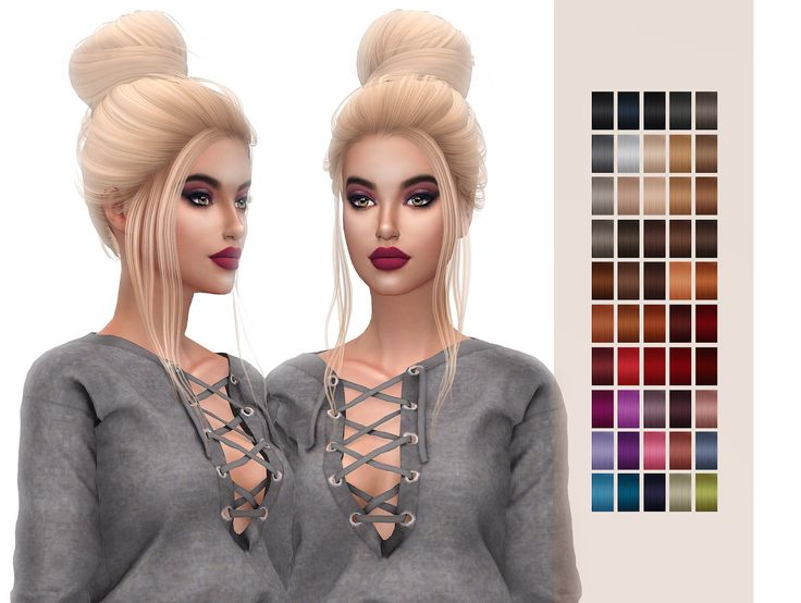 Frost Sims 4: Simpliciaty`s Grace hair retextured