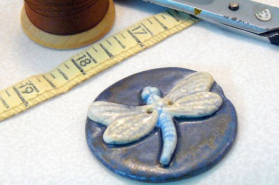 Dragonfly Button added to a scarf, purse or hat would make a great reminder of  summer days spent chasing dragonflies... $5.00 #dteam #promofrenzy