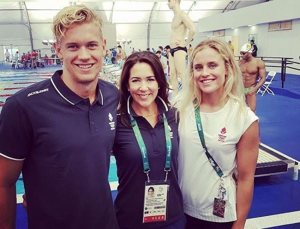 In the morning of August 3, 2016, Crown Princess Mary of Denmark met with Danish athletes before Rio de Janeiro 2016 Summer Olympics.