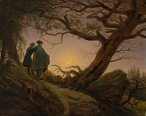 Caspar David Friedrich Two men contemplating the moon