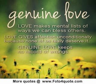 Quotes about love – genuine love