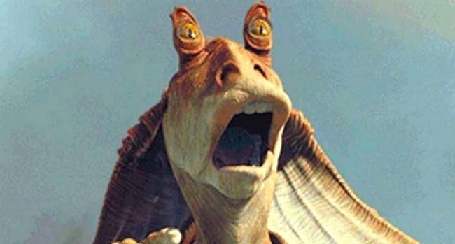 This is Jar Jar Binks. Despite leading the resistance on Naboo and facilitating the creation of the Empire thus being one of the most consequential characters in Star Wars. Dice refuses to put him in BattleFront II. Show Dice that you.... Ah fuck it