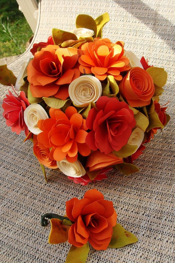 Paper  Flower  Wedding Bouquet  Rehearsal bouquet Toss Bouquet  Order yours 2 week Turnaround. $80.00, via Etsy.