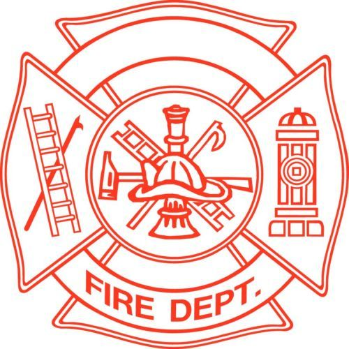 New Firefighter Badge Sticker Fireman Helmet Vinyl Flame Decal Truck Window Hot | eBay