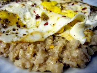 Savory Oatmeal with Fried Egg | Delectable | Pinterest