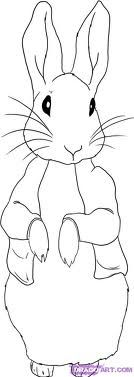 simple line drawing Peter Rabbit - may be a good practice for watercolor