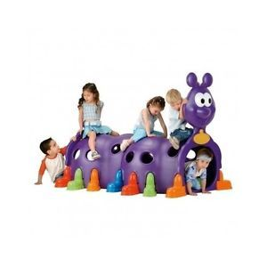 Kids Play Tunnel Happy Caterpillar Fort Swingset House Jungle Gym Climber Dome