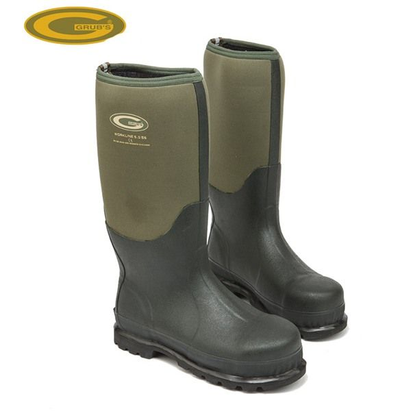 Grubs Workline 5.0 S5 Safety Boots in Moss Green offers full protection and comfort.