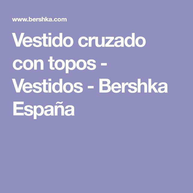Vestido cruzado con topos - Vestidos - Bershka España