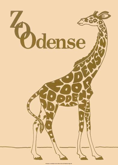 Odense Zoo - Giraf plakat