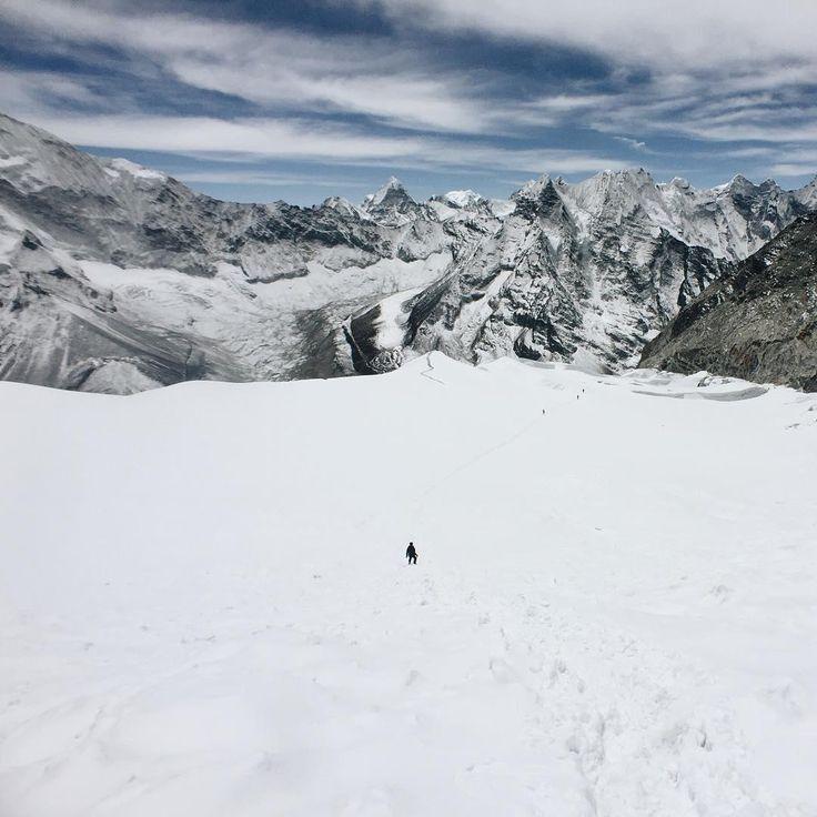 It's good to feel small. Photo: @HangHo (IG) climbing Island Peak in Nepal