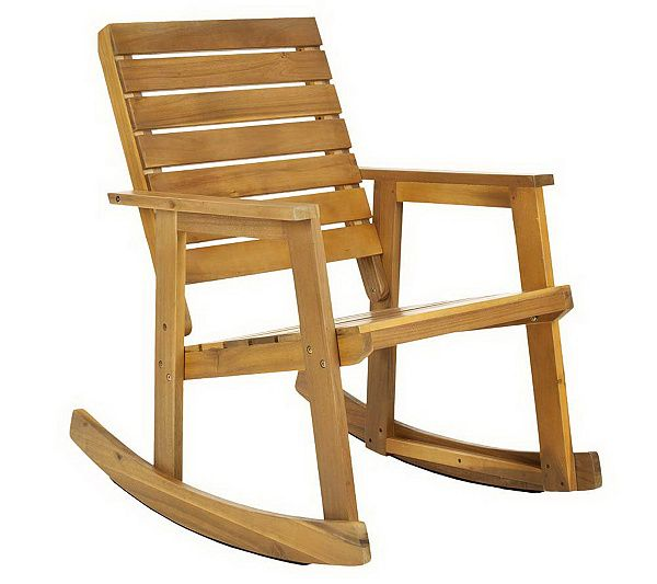 Sit a spell. The rustic-chic style of the Alexei Rocking Chair is a modern spin on the traditional seating choice of grandmothers around the globe. Page 1 QVC.com