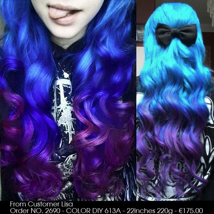 COLOR DIY - White Blonde Indian Remy Clip-in Hair Extensions D613A [D613A] - VPfashion.com