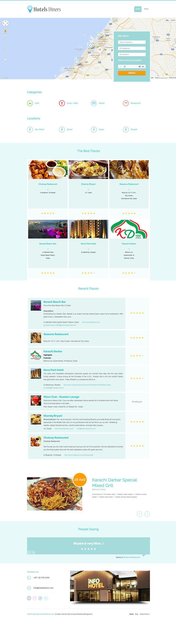 AIT Showcase - Business Finder: Find Hotels or Restaurants in Dubai, Sharjah, Abu Dhabi or Ajman at http://www.hotelsdiners.com