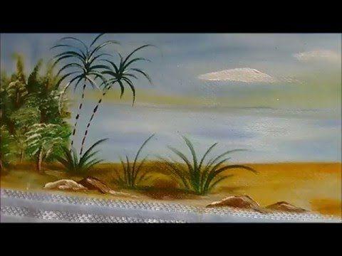 Aula de paisagem em toalha de banho. - YouTube
