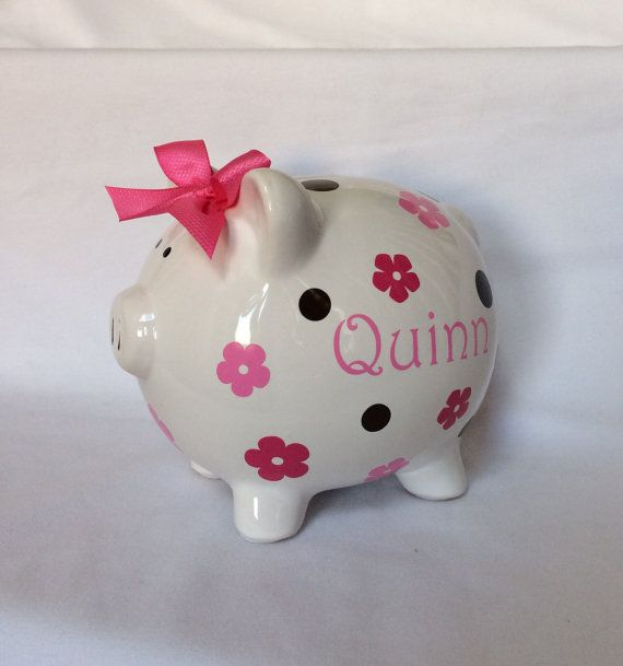 Piggy Bank Large Piggy Bank Personalized Piggy Bank by lawler01