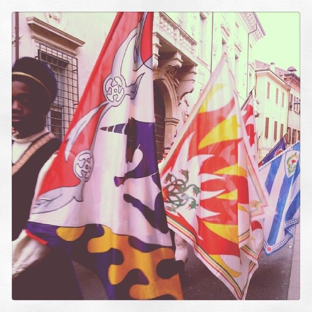 @iaiav_Le bandiere #rinascife2014 #carnevalerinascimentale #bandiere #palio #contrade #ferrara #ig_ferrara #igersferrara #igersitalia #igersemiliaromagna