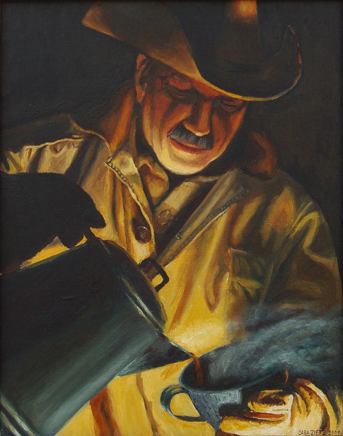 Cowboy Coffee Painting