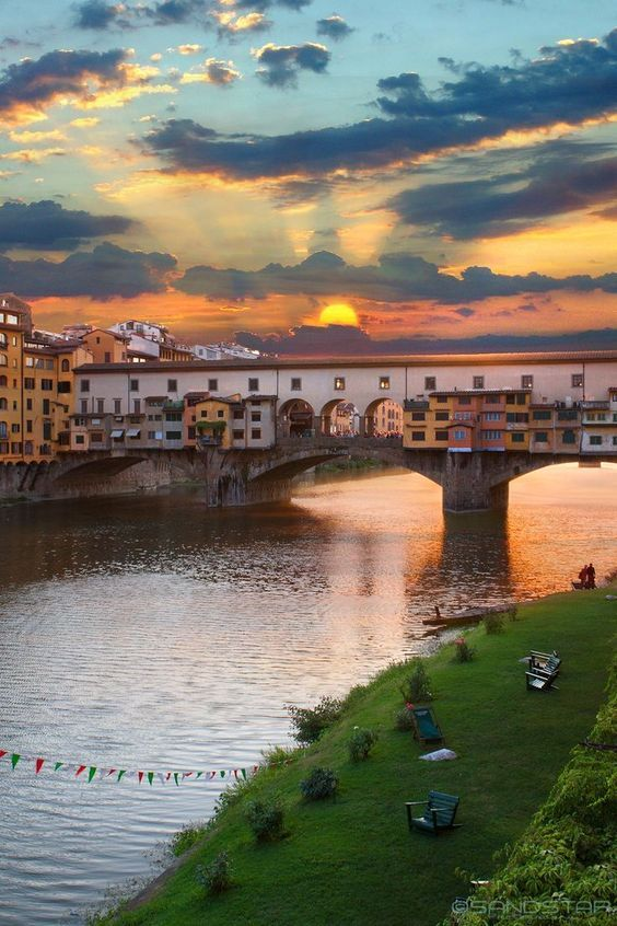 At the Ponte Vecchio in Florence, Italy.