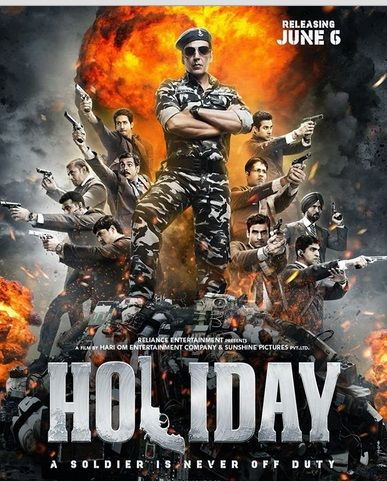 Holiday : Hindi Movie of Akshay Kumar -Watch Online full Movie Starting : Akshay Kumar, Sonakshi Sinha. Watch More latest Movies on our website...