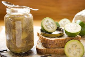 Feijoa jam, with vanilla and fresh ginger