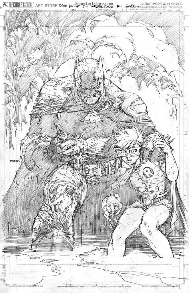 Just finished my penciled Dark Knight 3: The Master Race variant cover #batman…