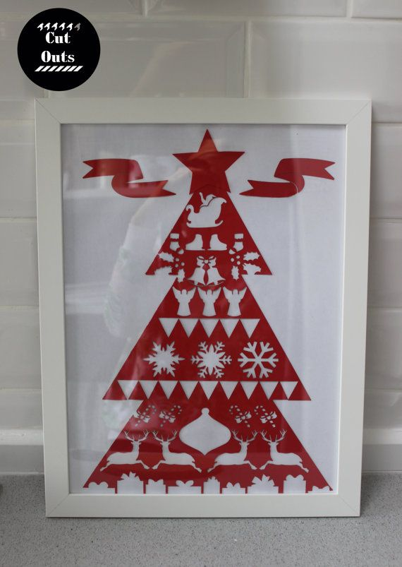 Scandinavian Christmas. Wall cut-out. by CutOutsMK on Etsy