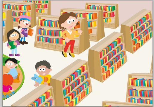 de bibliotheek en voorlezen