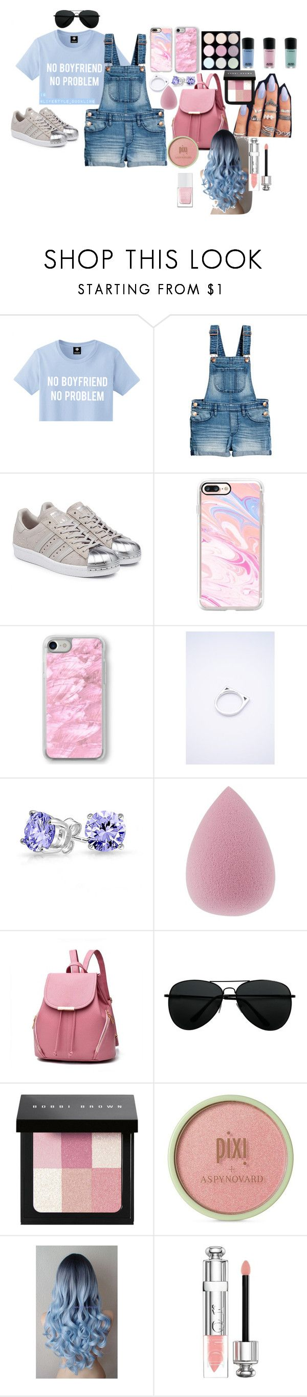 """""""Pastel Outfit"""" by lifestyle1duckling ❤ liked on Polyvore featuring adidas Originals, Casetify, Recover, Bling Jewelry, Bobbi Brown Cosmetics, Pixi, Christian Dior, The Hand & Foot Spa, outfit and pastel"""