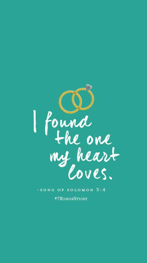 Encontrei aquele que o meu coração ama. -Cântico dos cânticos 3:4