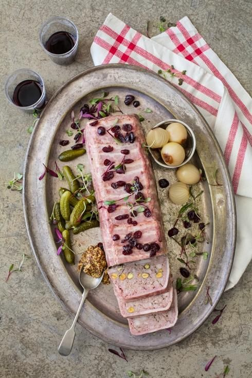 Pork recipes pork terrine with port and pistachios for Chicken and pork terrine with pistachio