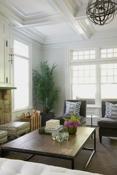 Gray Slipper Chairs Transitional Living Room Nightingale Design Greenwich Pinterest