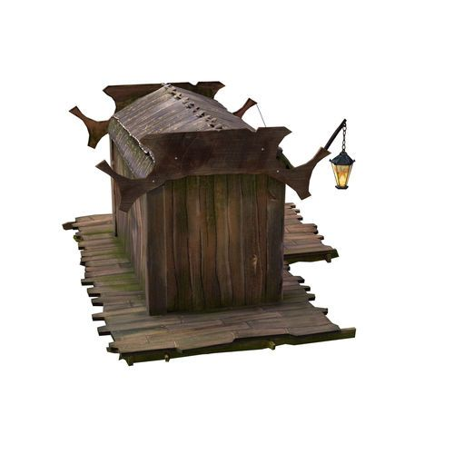 Stall for sale of different subjects. Low poly version.