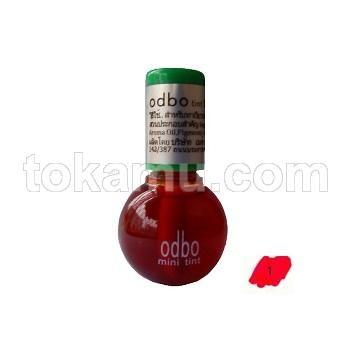 Odbo, Lip Tint, Warna Bibir Tampak Alami, 1 Red Apple