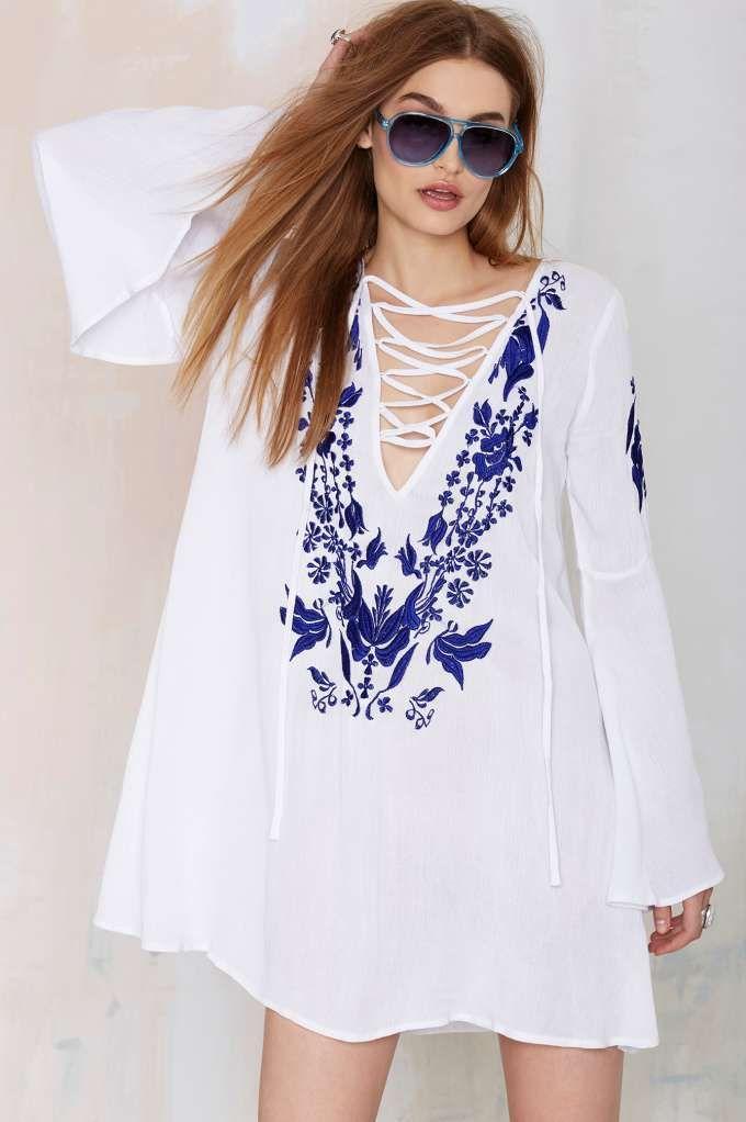 Glamorous June Lace-Up Dress
