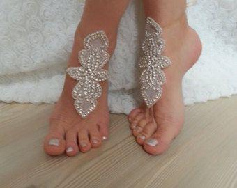 esen-fa Mujer Dorado y Plateado Rhinestone sandalias descalzas Tobillera XAYuLa